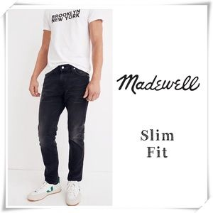 EUC Madewell Slim Everton Washed Black Jeans